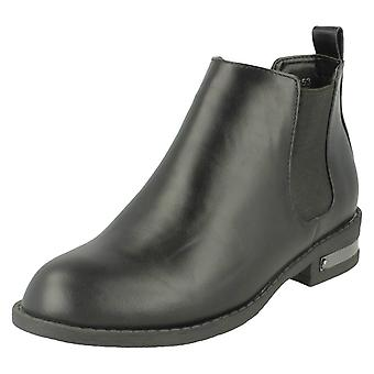 Ladies Spot On Chelsea Style Ankle Boots