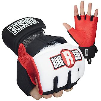 Ringside Gel Shock Boxing Glove Wraps - Red/Black