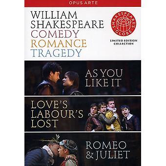 Komedie tragedie Romance [DVD] USA importerer