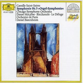 Barenboim/Chicago Symphony Orchestra - Saint-Saens: Sym 3 Danse Macabre [CD] USA import