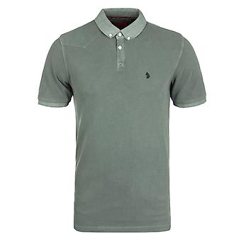 Luke 1977 Baskings Lux Moss Garment Dyed Pique Polo Shirt