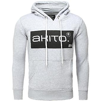 Akito Tanaka hooded SWEAT STREETER grey/white