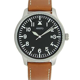 Aristo mens watch wristwatch pilot's watch quartz stainless steel 3 H 84