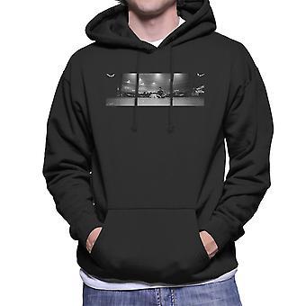 Liam Gallagher oase på scenen panoramisk mænd er hætte Sweatshirt