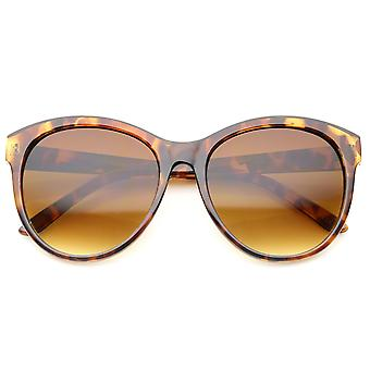 Women's Fashion Horn Rimmed Oversized Cat Eye Sunglasses 58mm