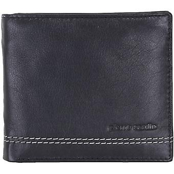 Pierre Cardin Leather Coin Pocket Credit Card Hip Wallet - Black