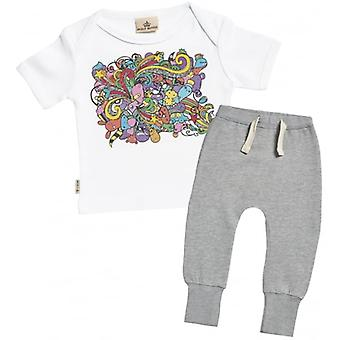 Verwend rotte Cartoon Baby T-Shirt & Joggers Outfit Set