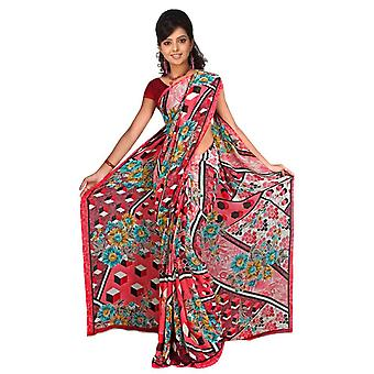 Tela de Avni Georgette impresos Casual sari Sari Bellydance