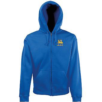 Queens Royal Regiment broderad Logo - officiella brittiska armén zippade Hoodie jacka