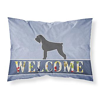Giant Schnauzer Welcome Fabric Standard Pillowcase