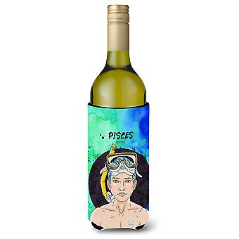 Pisces Zodiac Sign Wine Bottle Beverge Insulator Hugger