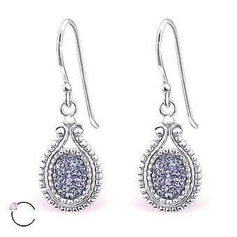 Oval crystal from Swarovski® - 925 Sterling Silver Earrings