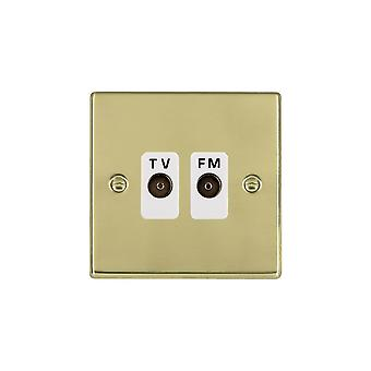 Hamilton Litestat Hartland Polished Brass Isolat TV/FM Diplex 1in/2out WH