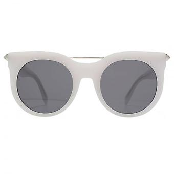 Alexander McQueen Piercing Bar Sunglasses In White