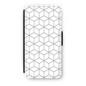 iPhone 6/6S Plus Flip Case - Cubes black and white