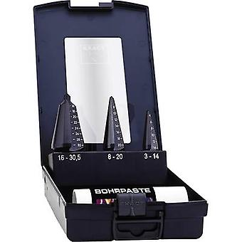 Quick-helix drill bit set 3-piece 3 - 14 mm, 4 - 20 mm, 16 - 30.5 mm HSS-E