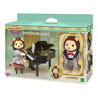 Les familles sylvanian Piano à queue Concert Playset