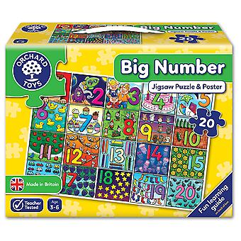 Orchard toys big number puzzle