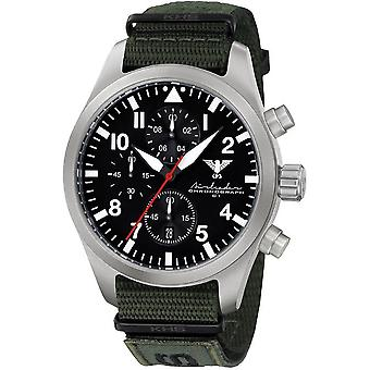 KHS mens watch Airleader Steel Chronograph KHS. AIRSC. NXTO1