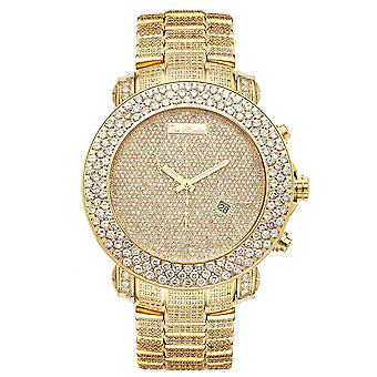 Joe Rodeo diamond men's watch - JUNIOR gold 25.5 ctw