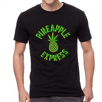 Pineapple Express grøn Pine mænd sort T-shirt