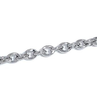 10m x Silver Tone Anti Tarnish Metal Alloy 2.5 x 3.5mm Open Cable Chain CH1205