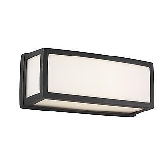 Washington Outdoor Small Led Rectangle, Dark Grey, Opal White, Diffuser Wall Bracket/flush