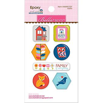 Mind Your Manners Epoxy Stickers-Icons