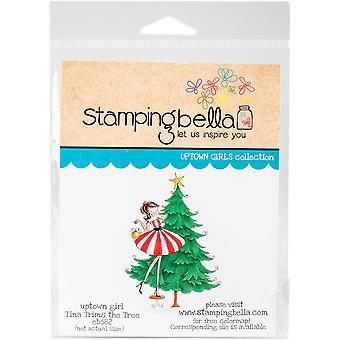 Stamping Bella Cling Stamp-Tina Trims The Tree