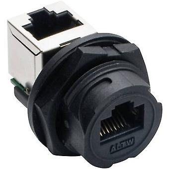 Amphenol LTW 2611-0402-01 Sensor/actuator built-in connector Socket, build-in, Socket, right angle No. of pins (RJ): 8