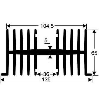 Fin heat sink 1.1 C/W (L x W x H) 75 x 125 x 65 mm Fischer Elek