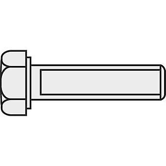 TOOLCRAFT 222524 Hexagon head screws M3 10 mm Hex head DIN 933 Brass 10 pc(s)
