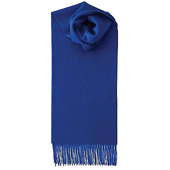 Johnstons of Elgin Lambswool Plain Scarf - Royal Blue