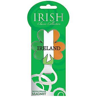 Classic Tricolour Irish Shamrock Pvc Bottle Opener Magnet (00552)