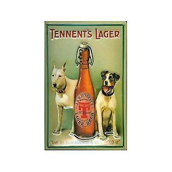 Tennents Lager Hunde Stahl Kühlschrank-Magnet