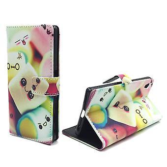 Sac de cas mobile pour téléphone mobile Sony Xperia Z5 guimauves de lettrage premium