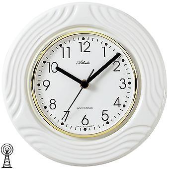 Atlanta 6020 cucina orologio parete orologio cucina radio radio controllato parete orologio analogico bianco di ceramica