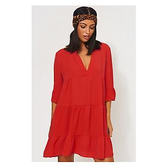 The Fashion Bible Gigi Red Smock Dress