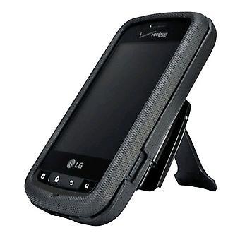 5 Pack -Body Glove Flex Snap-on Case pour LG Enlighten VS700 avec Clip Stand - Noir