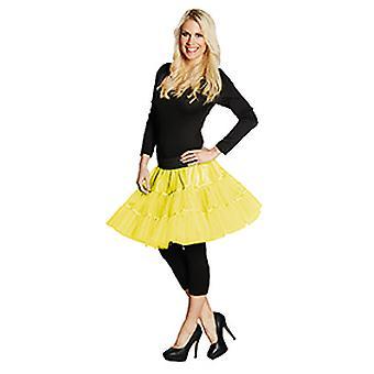 Petticoat short neon yellow ladies skirt costume Carnival