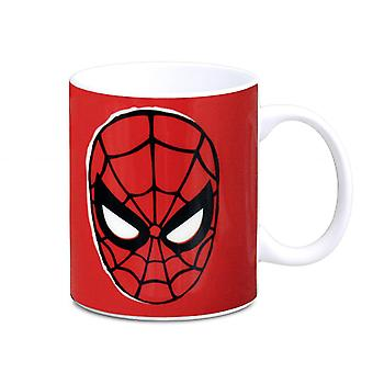 Spider-Man Cup face white, printed, ceramic, comes in sturdy gift box