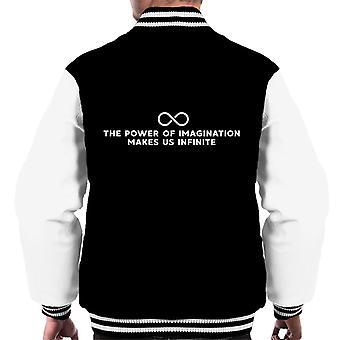 Die Macht der Phantasie macht uns unendlich John Muir Zitat Männer Varsity Jacket