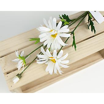 Artificial Fabric White Cottage Daisy Spray for Floristry Crafts