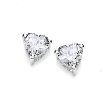 Cavendish French Crystal Clear Heart Earrings