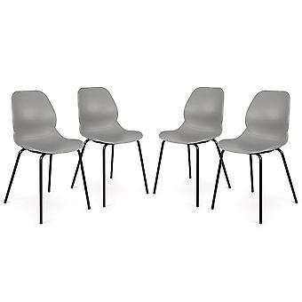 Conjunto de 4 Nova lado utilidad moderna Retro huéspedes sillas