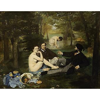 Dejeuner sur I'herbe,Edouard Manet,50x40cm