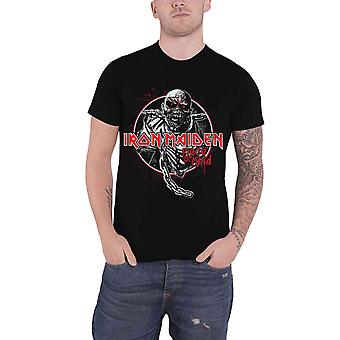 Iron Maiden T Shirt Piece of Mind Circle Band Logo new Official Mens Black