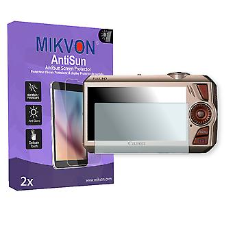 Canon IXY 50S Screen Protector - Mikvon AntiSun (Retail Package with accessories)