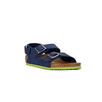 Birkenstock milano desert soll blue sandals