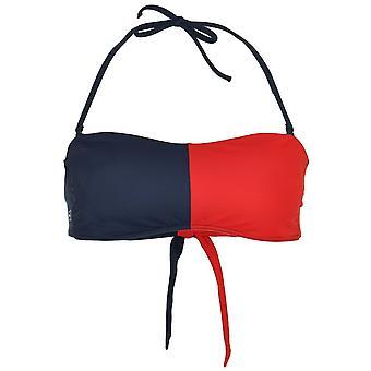 Tommy Hilfiger kvinner Bandeau Bikini topp, Tango rød / Navy Blazer, liten